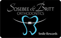 Reward Card Sosebee & Britt Orthodontics in Gainesville Oakwood GA